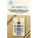 Иглы Schmetz двойные универсальные 130/705H-ZWI NE 4,0 №100 1шт