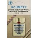 Иглы Schmetz двойные универсальные 130/705H-ZWI NE 4,0 №90 1шт