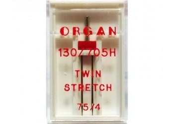 Игла Organ для трикотажа двойная 130/705H №75/4мм 1шт
