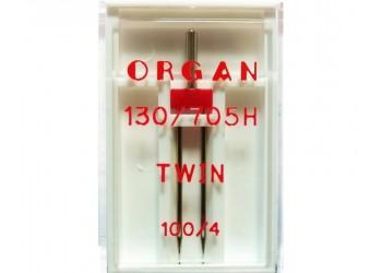 Игла Organ универсальная двойная 130/705H №100/4мм 1шт